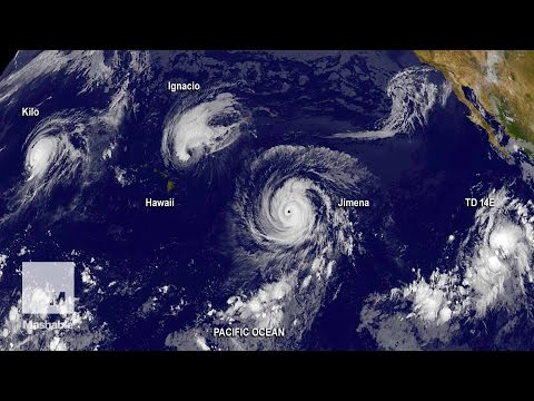 2 Hurricanes and 1 Typhoon in the Pacific Look Amazing From Space | Mashable News