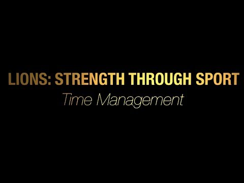 TCNJ Lions Strength Through Sport: Time Management
