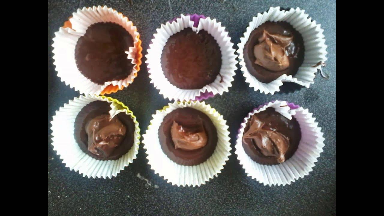 muffins coeur fondant au nutella recette rapide youtube. Black Bedroom Furniture Sets. Home Design Ideas