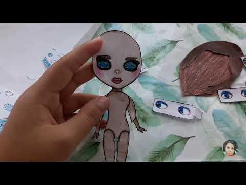 Новая бумажная блайз 2.0!!!   /бумажная кукла/бумажный сюрприз/образ для бумажной блайз/
