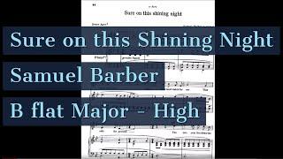 Sure on this Shining Night Piano Accompaniment High Key Barber Karaoke