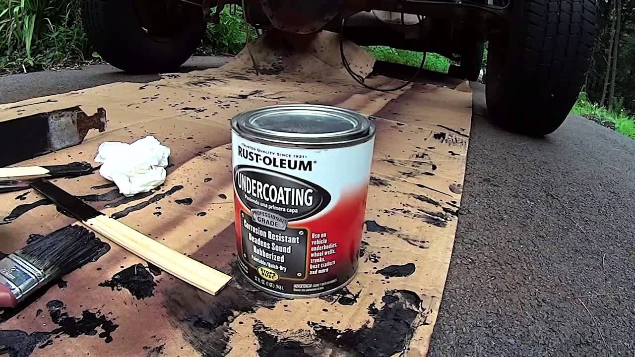 Silverado, Sierra Frame restoration, Rust-Oleum Undercoating