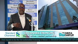 Standard Chartered Bank CEO Kariuki Ngari at launch of Sustainable Campaign