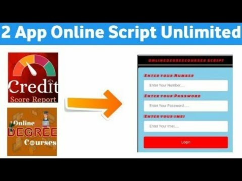 Online Script  Credit Score  Online Degree App Hack Unlimited Money add Trick