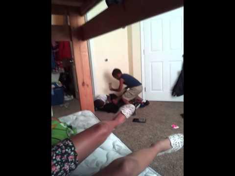 Little boys fighting