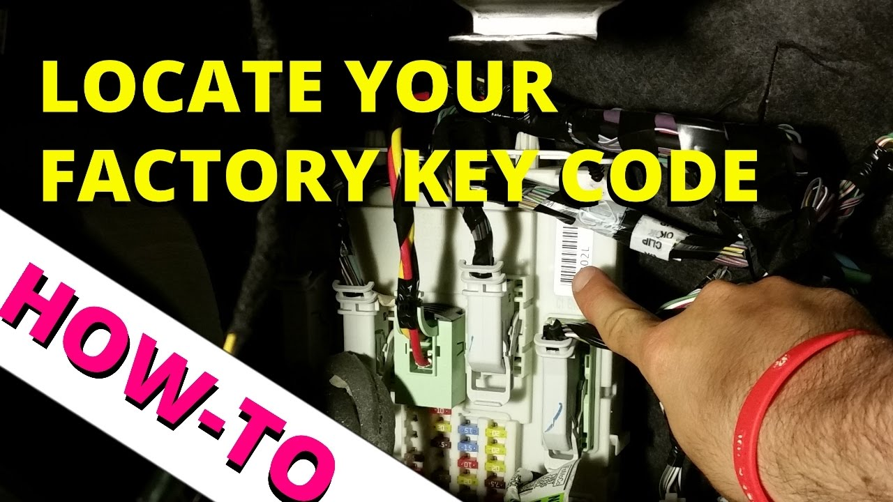 factory keyless entry code location 2013 2016 how to escape [ 1280 x 720 Pixel ]