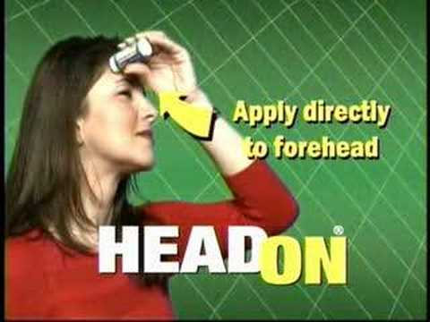 headon apply directly to the forehead youtube