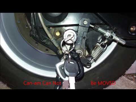 Can am Spyder Parking Brake Mod