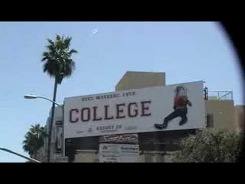 Drake Bell College movie billboard