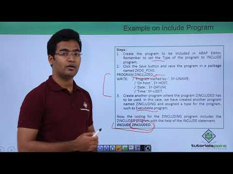 SAP ABAP - Include Program