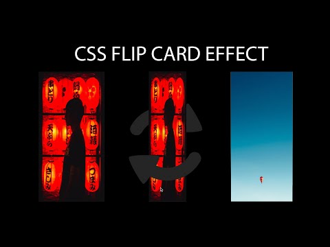 TUTORIAL HOW TO MAKE CSS FLIP CARD EFFECT | NO JAVASCRIPT | CSS HTML | WEB DESIGN | COOL CSS EFFECT thumbnail