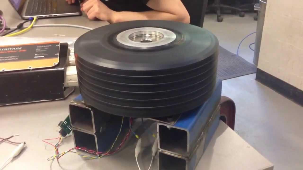 Testing one of the Emrax motors