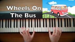 Wheels On The Bus Piano Tutorial (Slow Version)