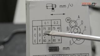 Как пользоваться таблицей токарного станка Metal Master MML 1830V