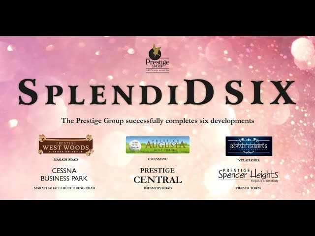 Splendid Six - Inauguration of Six Projects by Prestige Group