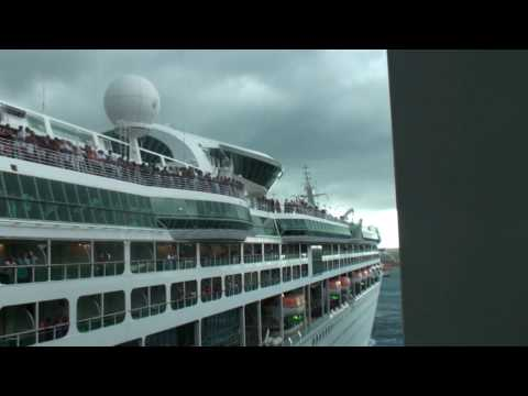 Carnival Legend and Royal Caribbean Enchantment Crash  9 2009