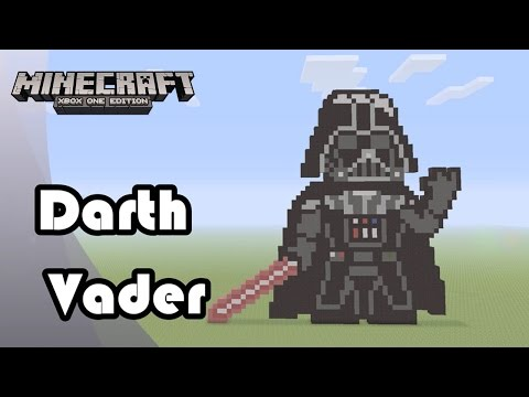 Minecraft: Pixel Art Tutorial And Showcase: Darth Vader From Star Wars