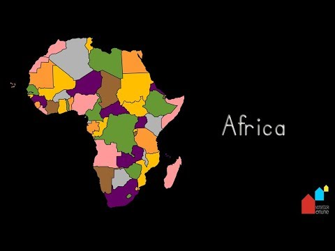 Countries of Africa, their Capital Cities and their Flags - Montessori Geography Presentation