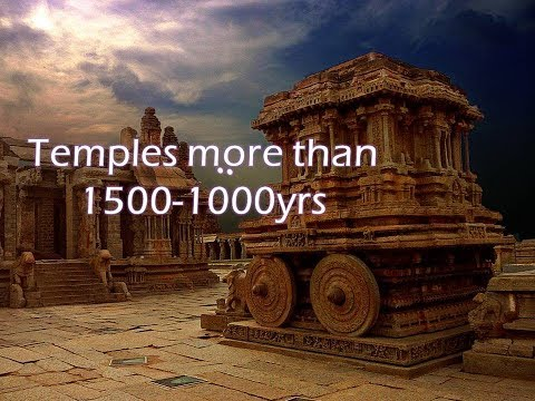 Top 20 TEMPLES IN INDIA THAT ARE MORE THAN 1000-2000 YEARS OLD.......