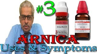 Arnica in Hindi (Part 3) - Uses & Symptoms in Homeopathy by Dr P. S. Tiwari
