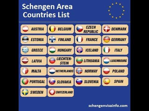 Schengen  Area in 2 minitue