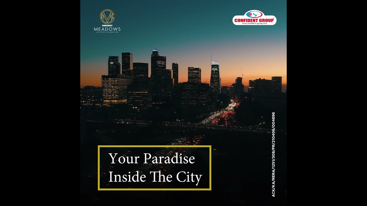 Book Your Paradise in Bangalore City| Confident Meadows Ultra Luxury Flats Sarjapur Main Road