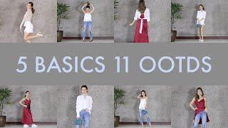 5 Basic Pieces- 11 Outfits | Kryz Uy