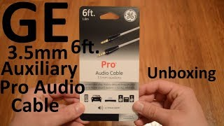 Unboxing GE 6ft. 3.5mm Auxiliary Pro Audio Cable