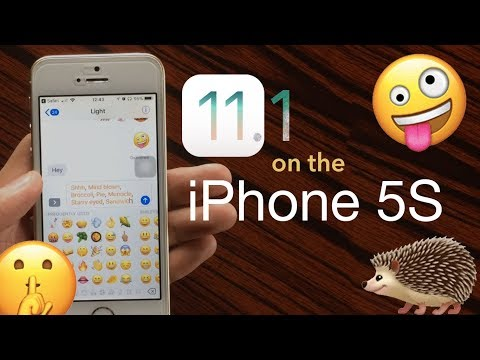 iOS 11.1 on the iPhone 5S