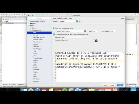 Changing Font Size On Android Studio #Mac_OS