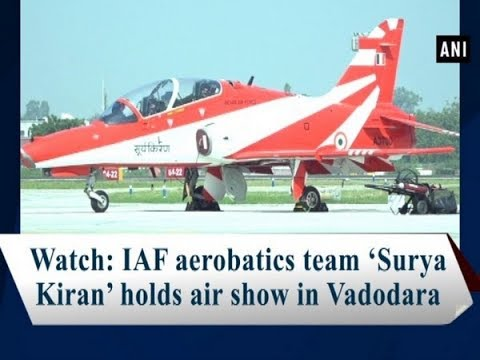 Watch: IAF aerobatics team 'Surya Kiran' holds air show in Vadodara - #Gujarat News