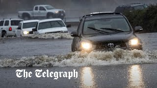 video: Watch: Drought-stricken California flooded after heavy storm