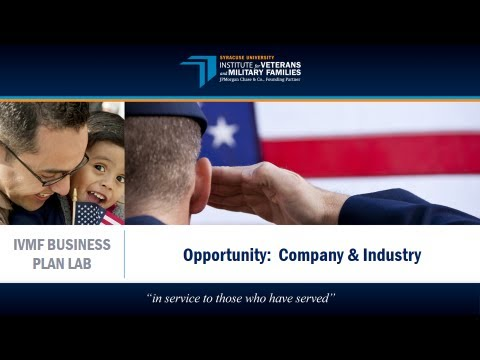 IVMF Business Plan Lab | Opportunity: Company & Industry
