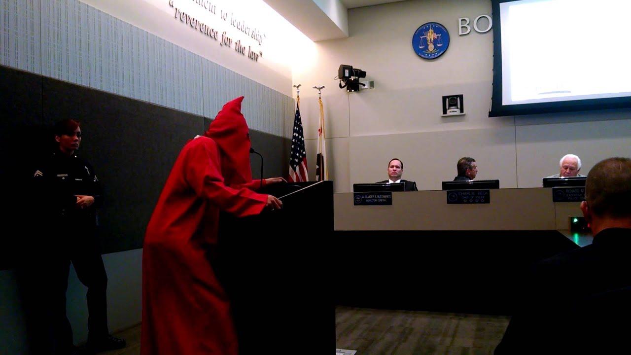 Download #LAPD Chief Charlie Beck Turns His Head on Black Man in KKK Hood