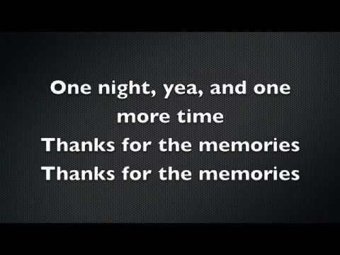 Thanks for the Memories Lyrics