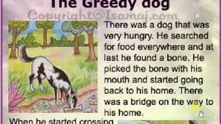 learn English to Hindi translate with very easy way (a greedy dog)