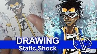 Static Shock - Copic Marker Drawing [Day 12]