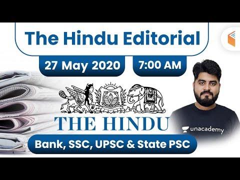 7:00 AM - The Hindu Editorial Analysis By Vishal Sir | 27 May 2020 | The Hindu Analysis