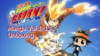 Обложка на видео о Katekyo Hitman Reborn! Manga Vol 1-13 unboxing