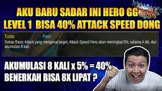 PARAH INI HERO LEVEL 1 40% ATTACK SPEED WOW - MOBILE LEGEND BANG BANG