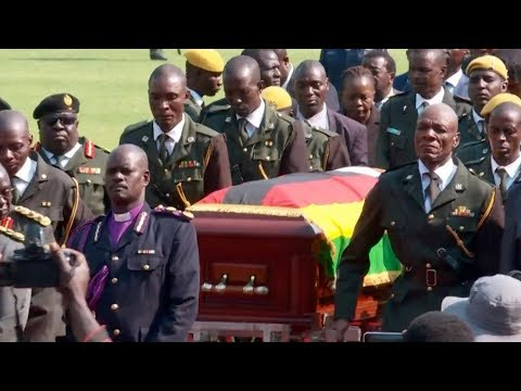 Body of former Zimbabwean leader transported to hometown after state funeral