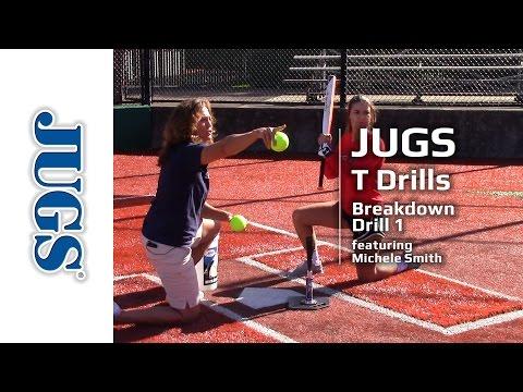 Softball T Drills: Breakdown Drill 1   JUGS Sports