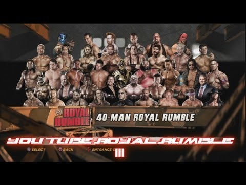 WWE'12 - 40 Man You Tube Royal Rumble Match III HD