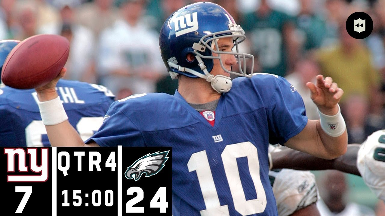 the latest 3afe5 18fb3 Giants vs. Eagles: A Classic NFC East 4th Quarter Comeback   NFL Throwback