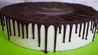 Торт ПТИЧЬЕ МОЛОКО на ЖЕЛАТИНЕ Торт МАМЕ на день рождения Рецепт глазури Рецепт торта