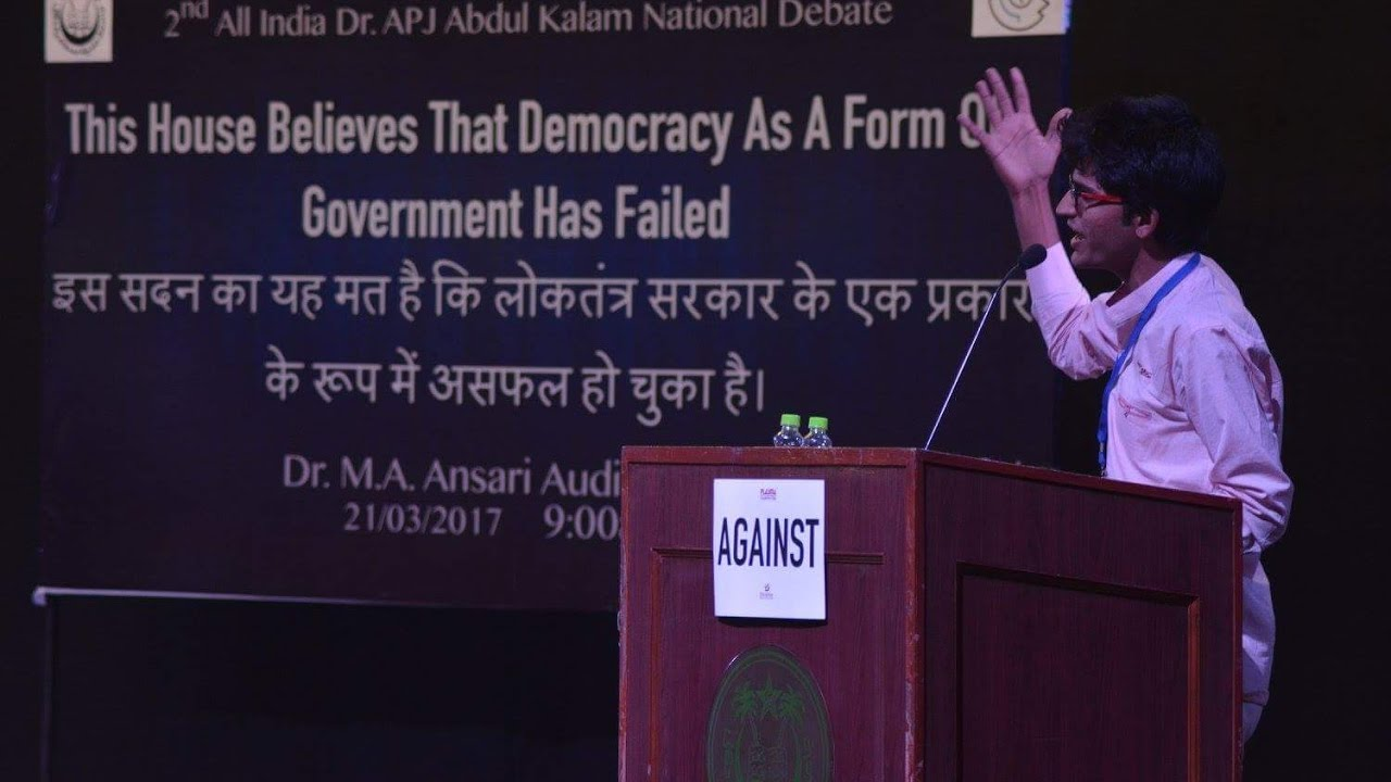 is democracy successful in india debate