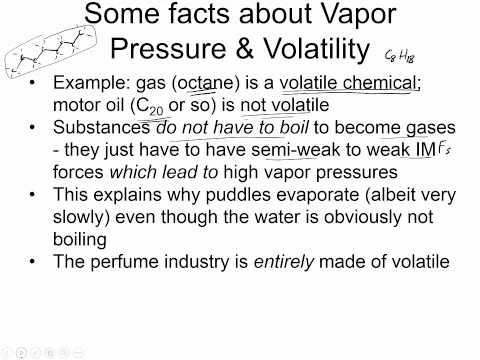 Vapor pressure part 1 background
