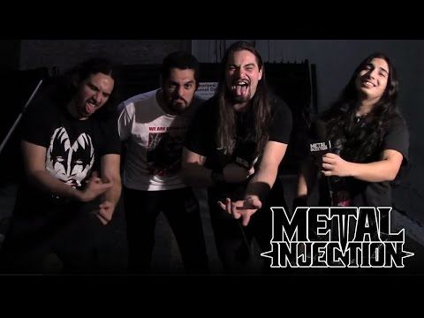 EXMORTUS Interview on Horror Movies, Guitar 69 Stage Move | Metal Injection