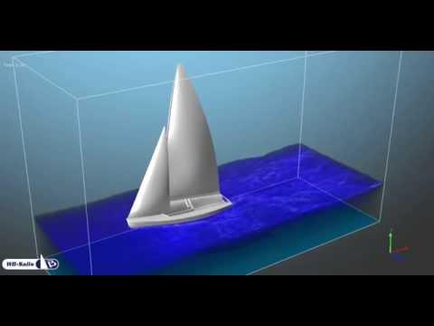 470 sailing in an aquarium