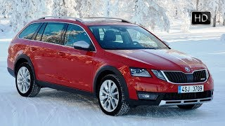 2018 SKODA OCTAVIA SCOUT Exterior Interior Design & Driving Winter Conditions HD
